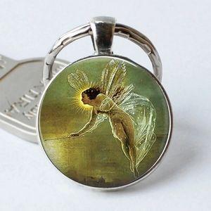 Pre-Raphaelite Fairy Spirit Keychain